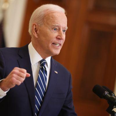 USA:n presidentti Joe Biden lehdistötilaisuudessa.