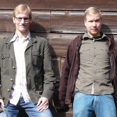 Näyttelijät Mika Juusela ja Antti Kemppainen