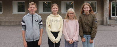 Milton Sandström, Elsa Amper, Eva Grönlund och Ida Classon.