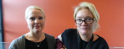 Annette Tallberg-Haahtela och Daniela Frankenhaeuser på FDUV.