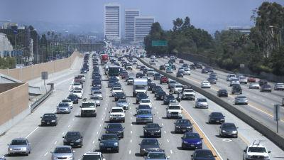 Bilar i Los Angeles den 30 juni 2017
