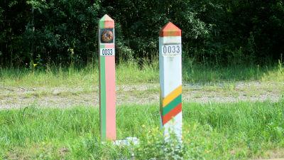 Gränsen mellan Belarus och Litauen.
