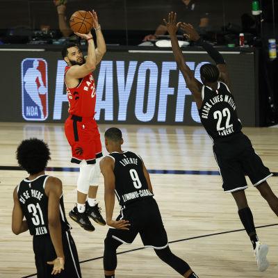 Toronto Raptors besegrade Brooklyn Nets i slutspelets första omgång.