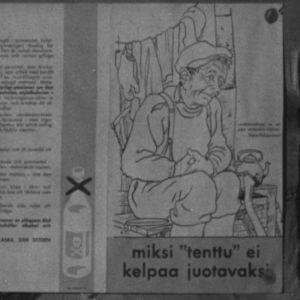 """Varoitusjuliste """"tentun"""" vaaroista vuonna 1964."""