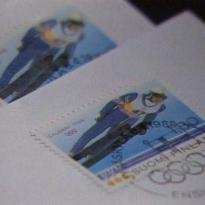 Matti Nykäsen postimerkki julkaistiin vuonna 1988.