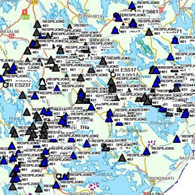 Sähköhäiriökartta Eino-myrskyn aikana.