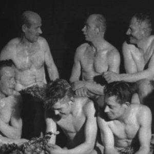 Metsurit saunassa vuonna 1964.