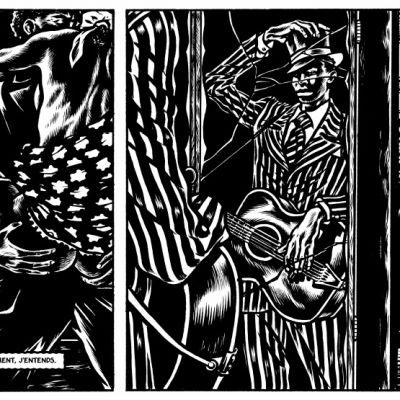 Ranskalainen sarjakuva kertoo blueslegenda Robert Johnsonin elämäntarinan.
