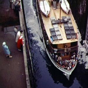 Sisävesilaiva Saimaan kanavalla 1961