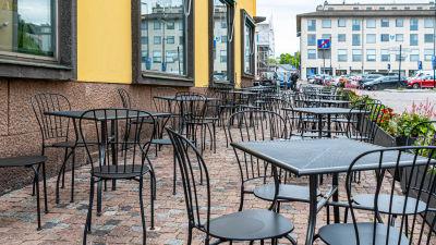 tom restaurangterrass i Borgå