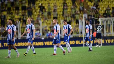HJK förlorade första kvalmatchen mot Fenerbahce med 0–1.