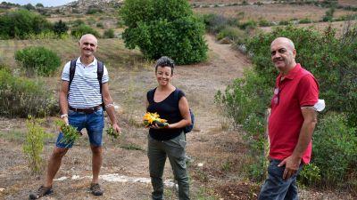 Giorgio Nichele, Chiara Pota och Giuseppe Pisano från det sociala kooperativet Arcolai i Syrakusa.