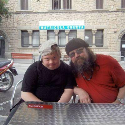 Arni i Barcelona med sin far