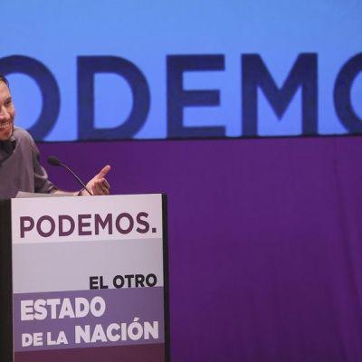 Podemosin puoluejohtaja Pablo Iglesias