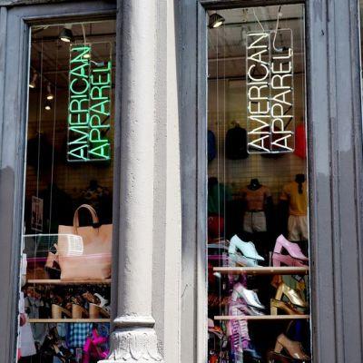 Vaateketju American Apparelin liike New Yorkin kaupungissa.