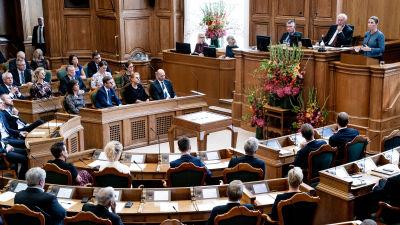 Session i det Danska folketinget 1.10.2019