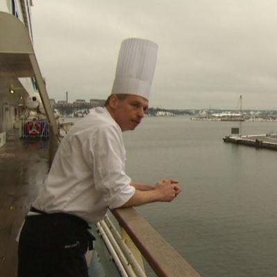 Köksmästare Janne Berlin ombord på Silja Serenade