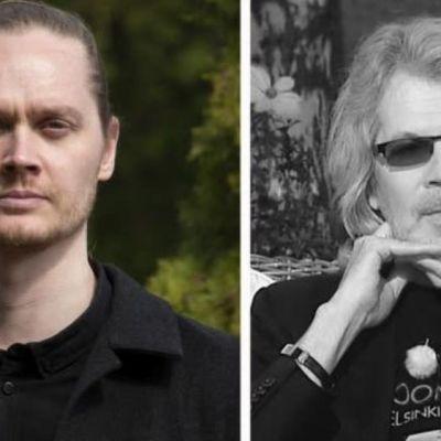Författaren Matti Kangaskoski och översättaren Leevi Lehto.