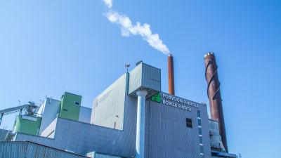 Borgå energis fliskraftverk i Tolkis
