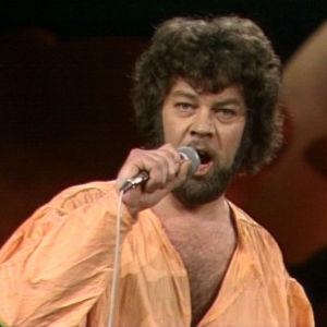 Markku Blomqvist laulaa Euroviisukarsinnoissa 1977