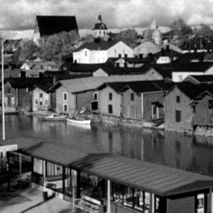 Porvoon juna-asema vuonna 1964