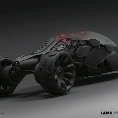 batmobile LAMK Pekka Puhakka ajoneuvo muotoilu