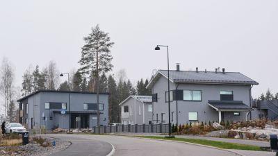 Småhus på området Nickby gård