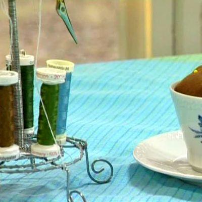 Nåldyna i kaffekopp