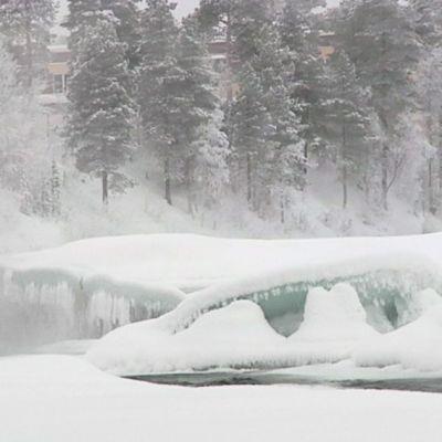 Talvinen näkymä Inarissa 29. joulukuuta 2014.