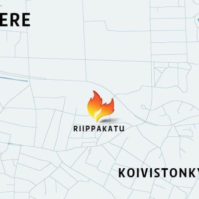Tulipalopaikka kartalla