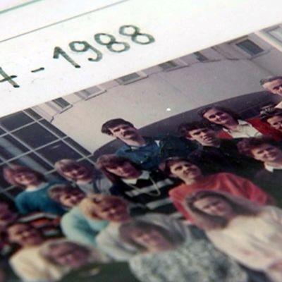 Ryhmäkuva lukukauden 1987 - 1988 opiskelijoista.
