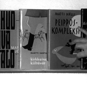Kirjakaupassa myytäviä kirjoja vuonna 1964