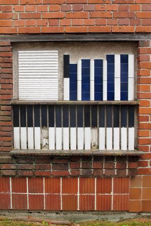 Detalj av fasaden på fritidshuset på Muuratsalo, ritat av Alvar Aalto.