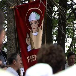 Metsäjumalanpalvelus Pyhän Henrikin pyhiinvaelluksen toisena päivänä.