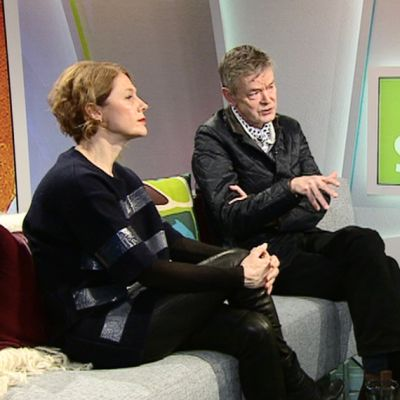 Trendianalyytikko Susanna Björklund ja sisustusarkkitehti Martin Relander.