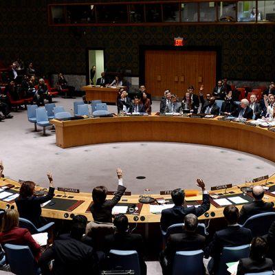 YK:n turvallisuusneuvosto kokoontui New Yorkissa 22. joulukuuta.