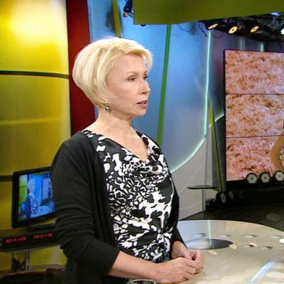 Raisa Cacciatore Ylen aamu-tv:ssä maanantaina.