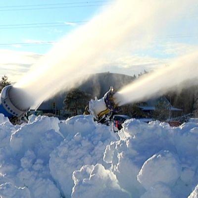 Lumitykit tykittävät lunta.
