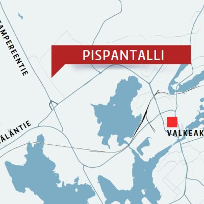 Pispantallin sijainti kartalla