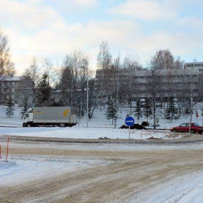Kiertoliittymä Kuopion Haapaniemellä