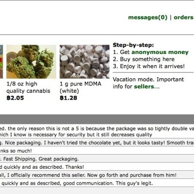 Skärmdump från sajten Silk Road.