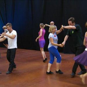 Det dansades för fullt i det så kallade Danshuset på Tangomarkkinat.