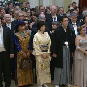 Diplomater på självständighetsmottagningen