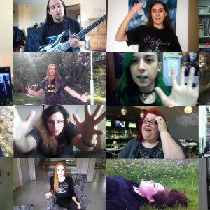 Nightwishin faneja eri puolilta maailmaa ohjelmasta Fellow Imagineers.
