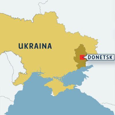 Donetsk i östra Ukraina