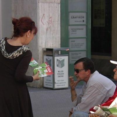 Gatuvy från Zagreb i Kroatien