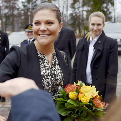 Prinsessan Victoria på Hanaholmen i Esbo den 27 november 2014.