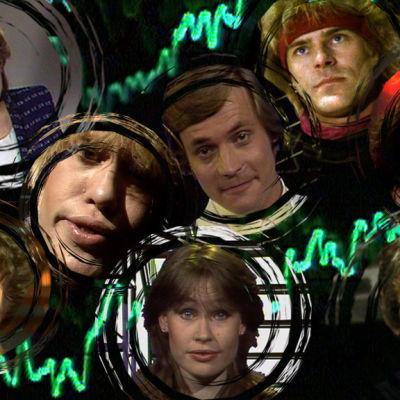 Hittimittari-ohjelmasarjan juontajat ja esiintyjiä 1983-1988.