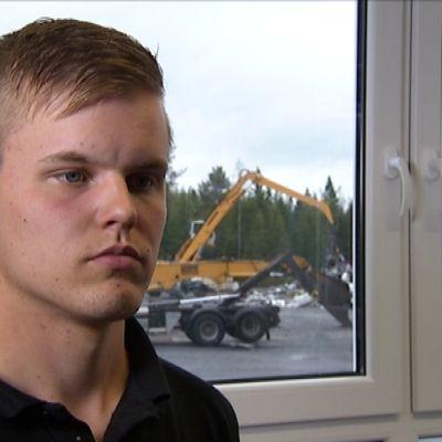 Ville Hatanmaa på VTH Recycling.