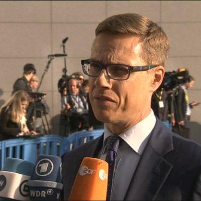 Stubb på eurogruppens möte i Bryssel